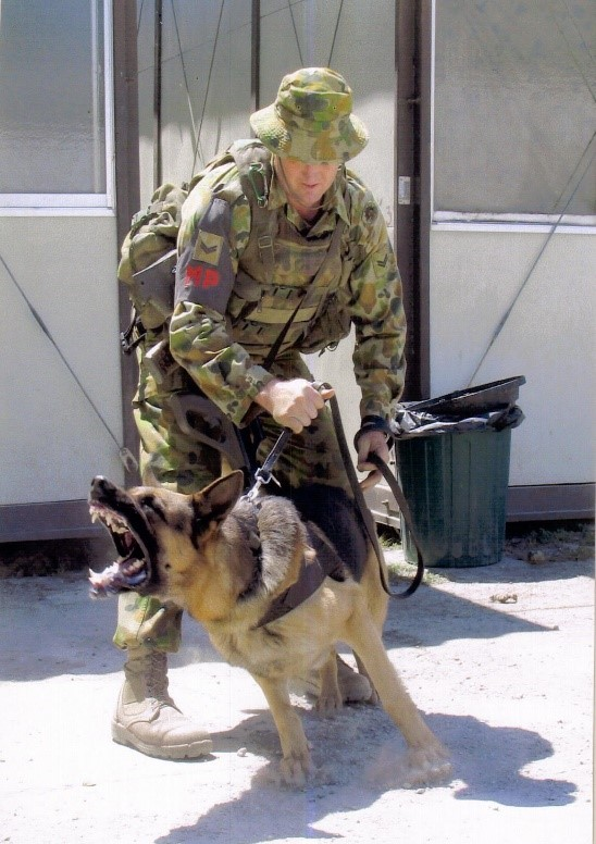 Corporal Dean Hedberg with RUTLEY