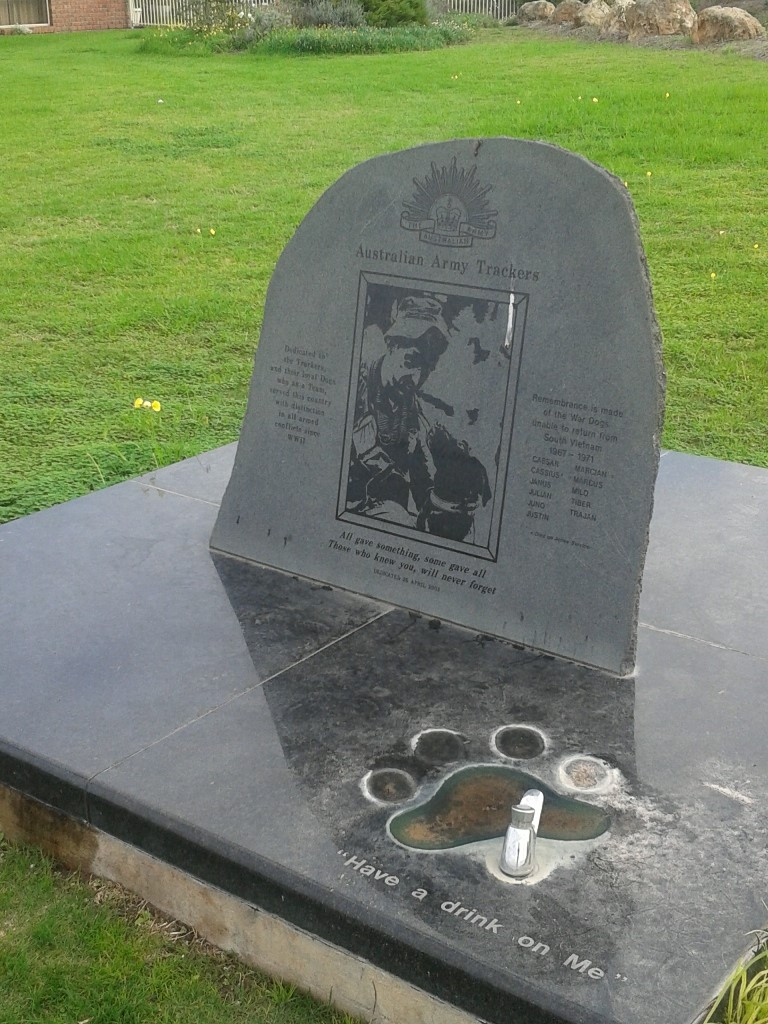 Tracker Dog Memorial at Goolwa in South Australia